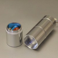 MyLifeUNIT: 3 Units Metal Keychain Pill Holder Set