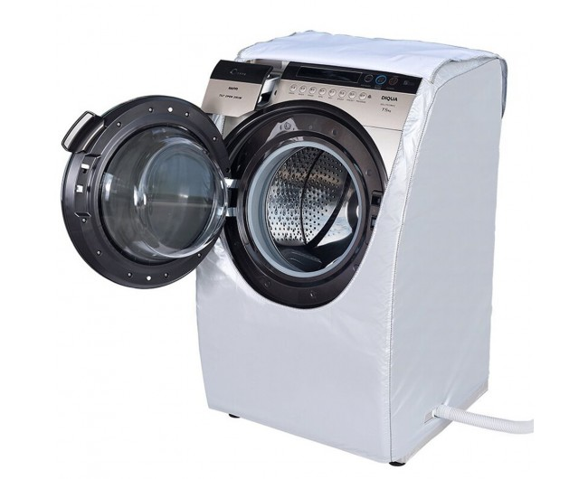 Silver Small size front Load Washer Washing Machine Cover