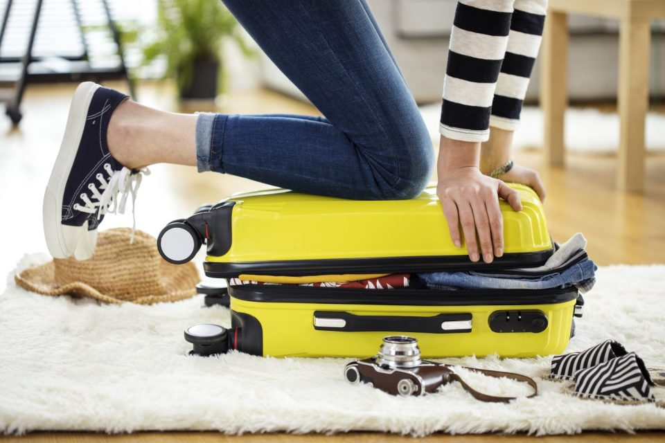 Packing suitcase to travel