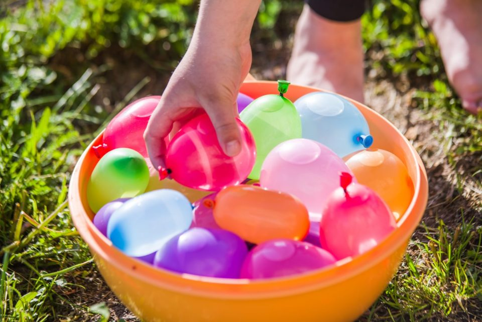 The bladder is like a water balloon