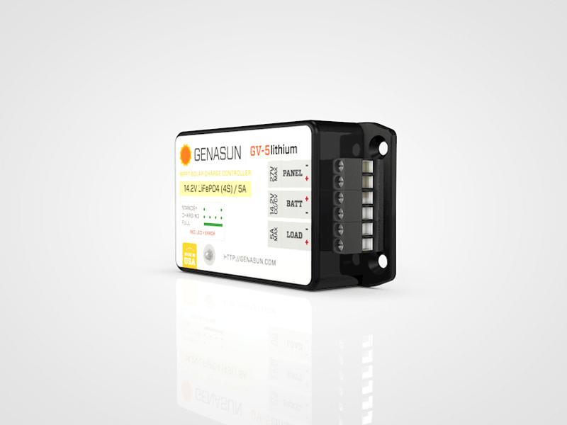 Genasun GV5 Solar controller for lithium battery | MyLithiumBattery