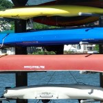Don't you just love blue kayaks?