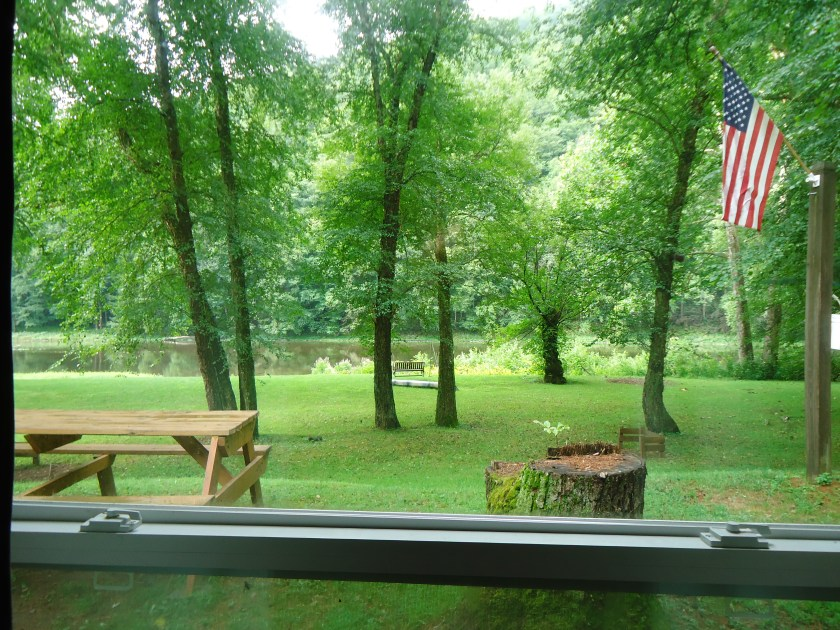 The view from the living room window!