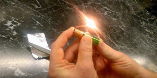 How to make a Lighter out of battery and bubble gum paper
