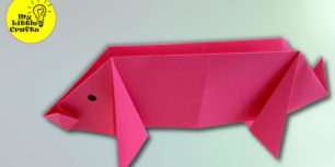 ORIGAMI PIG | How to make a paper Pig