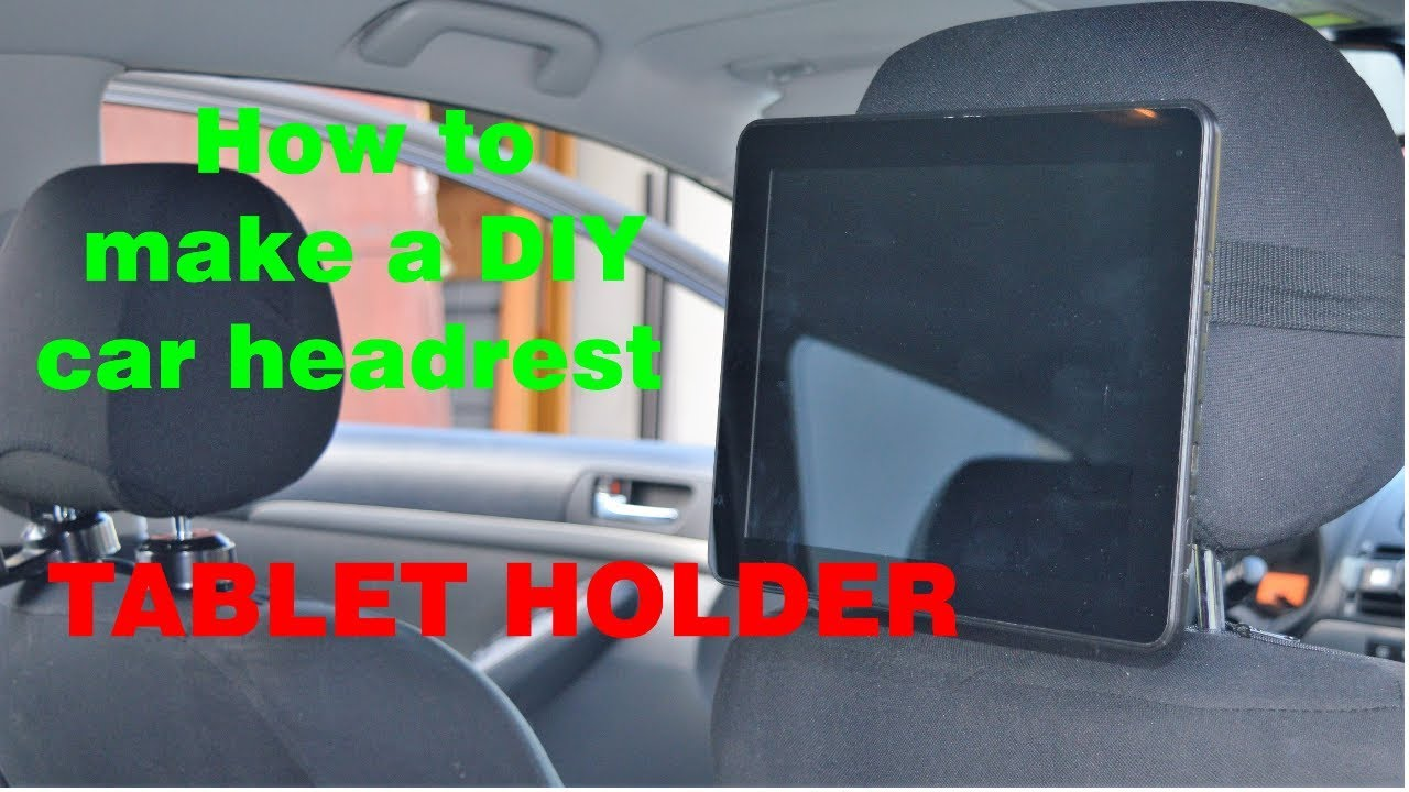 How to make a DIY car headrest tablet holder