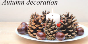 Autumn decoration from cones | Fall decor ideas 2020
