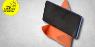 DIY paper phone stand | Origami phone stand