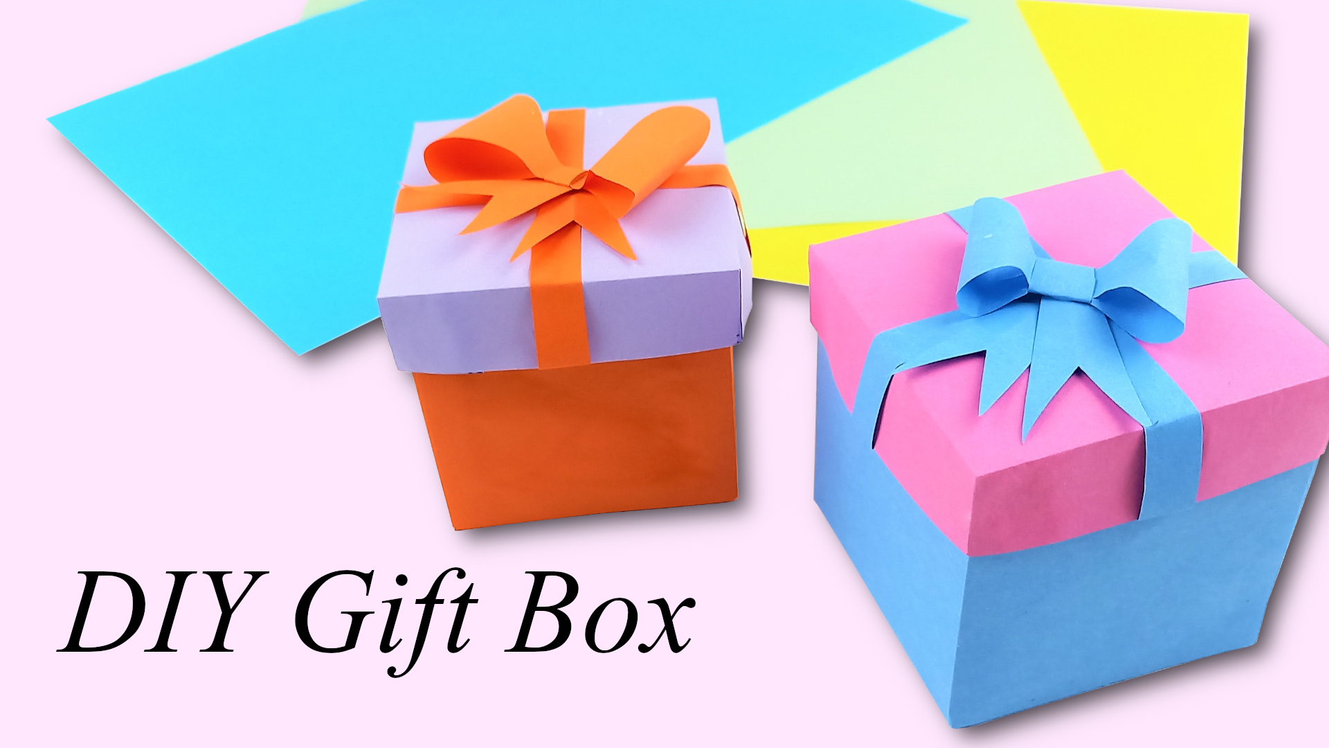 How to make a paper gift box | DIY gift box