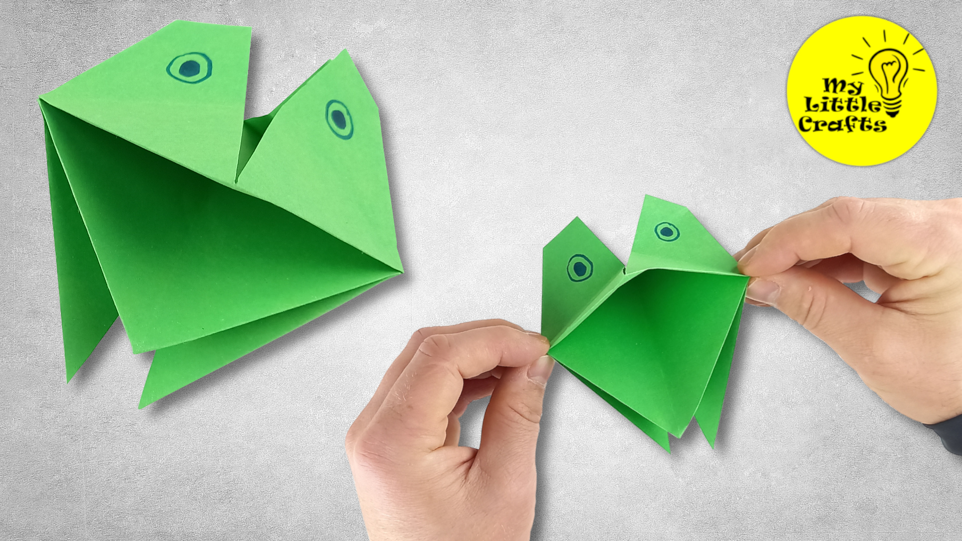 Origami croaking frog | How to make paper croaking frog