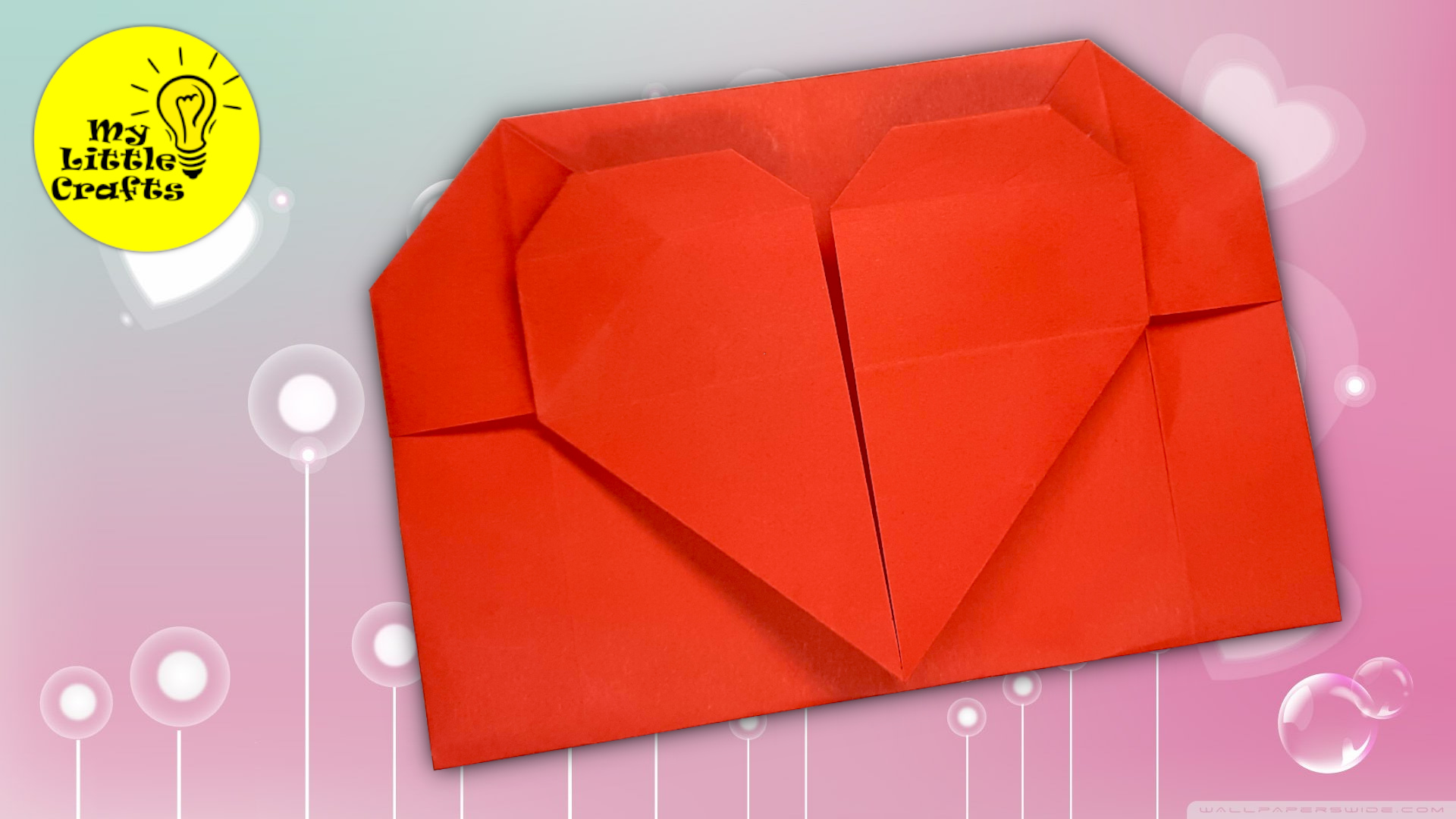 Origami Heart envelope for Valentine's day