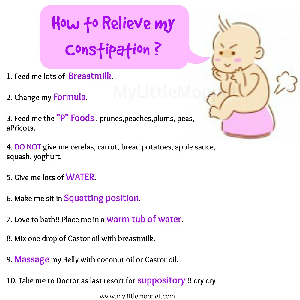 10 Amazing Ways To Relieve Constipation In Babies My