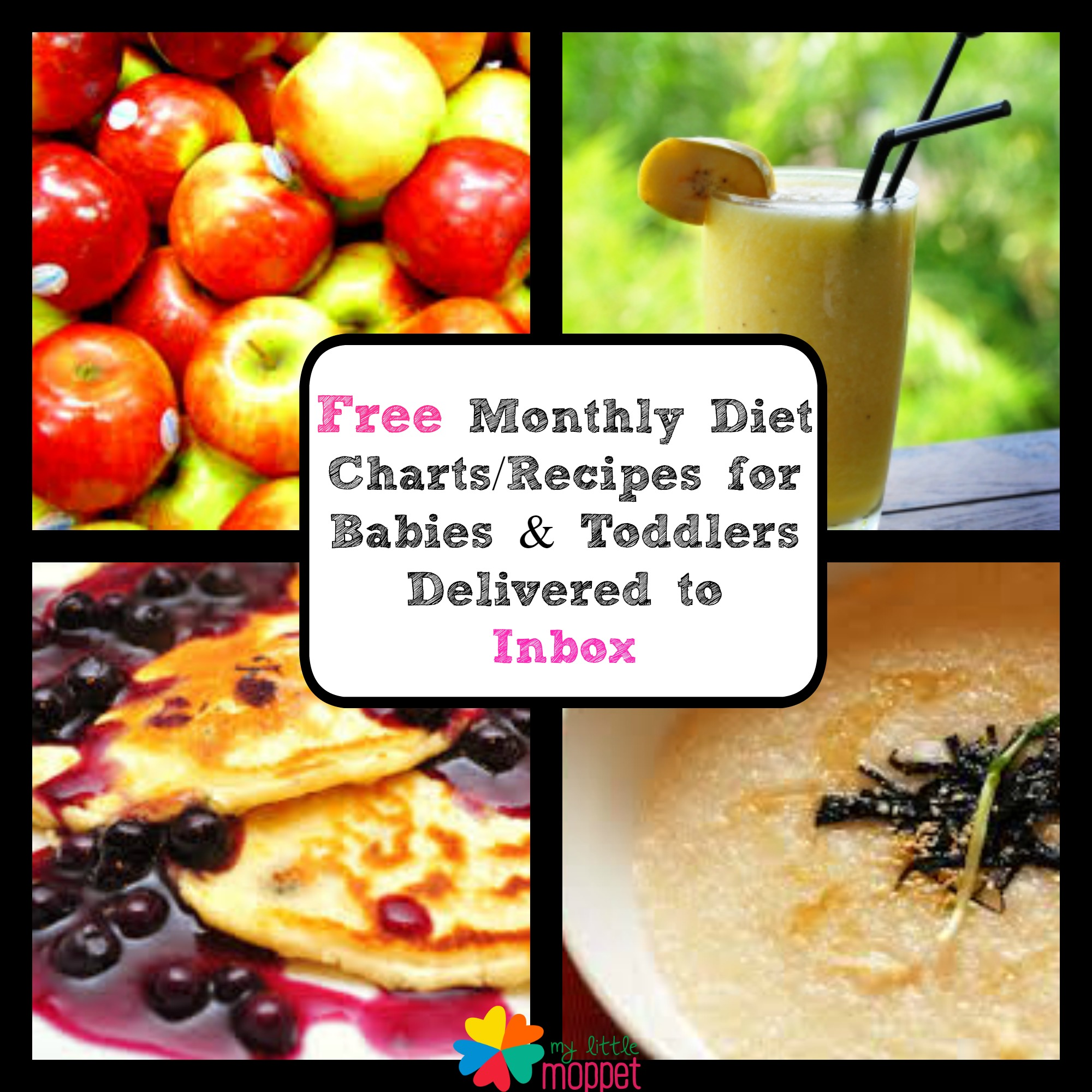 Free monthly food chart for babies toddlers delivered by mail my monthly food chart for babies nvjuhfo Image collections