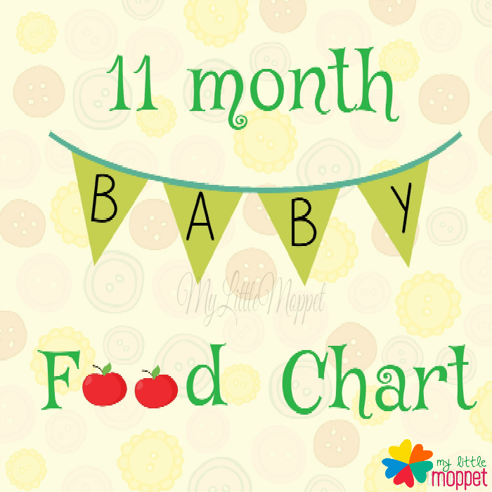 11 month baby food chart and meal planner
