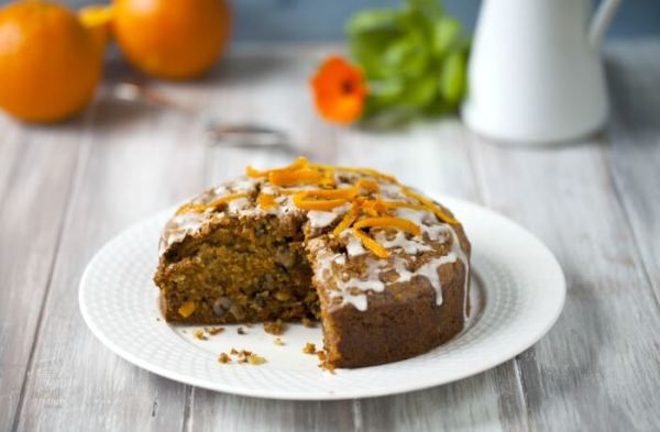 whole wheat carrot cake eggless recipe for Babies