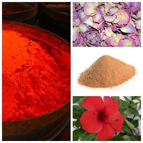 red color homemade holi powder recipe
