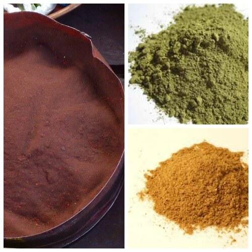 brown color homemade holi powder recipe