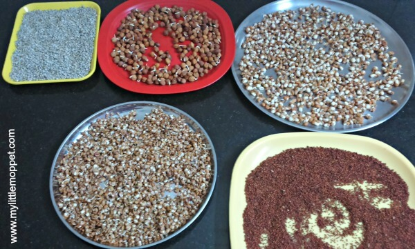 how to make sprouted sathu maavu powder for babies