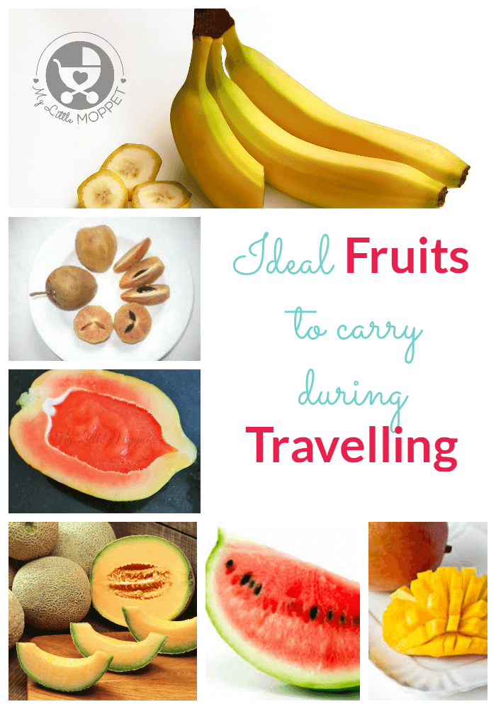 Fruits to give to babies and toddlers during travel