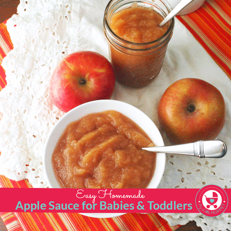 Easy one pot homemade apple sauce recipe for babies