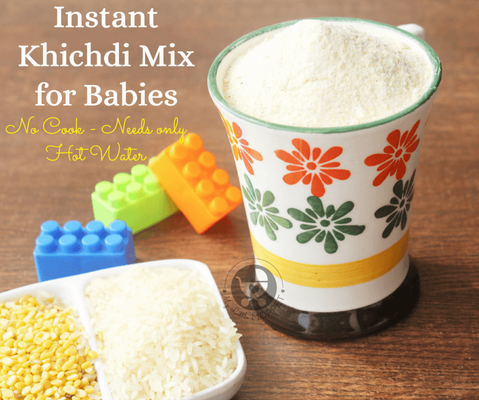 Instant Khichdi Mix or Homemade Cerelac recipe