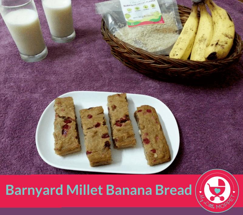 barnyard millet banana bread