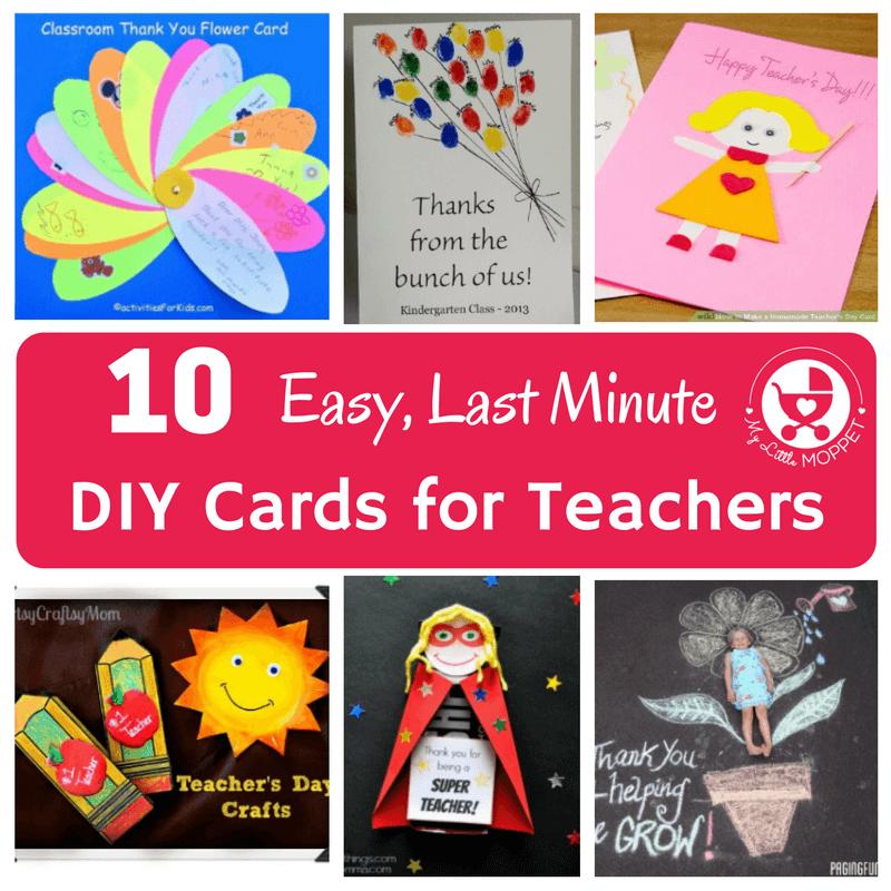 10 easy last minute diy cards for teachers