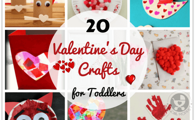 20 Easy Valentine S Day Crafts For Toddlers