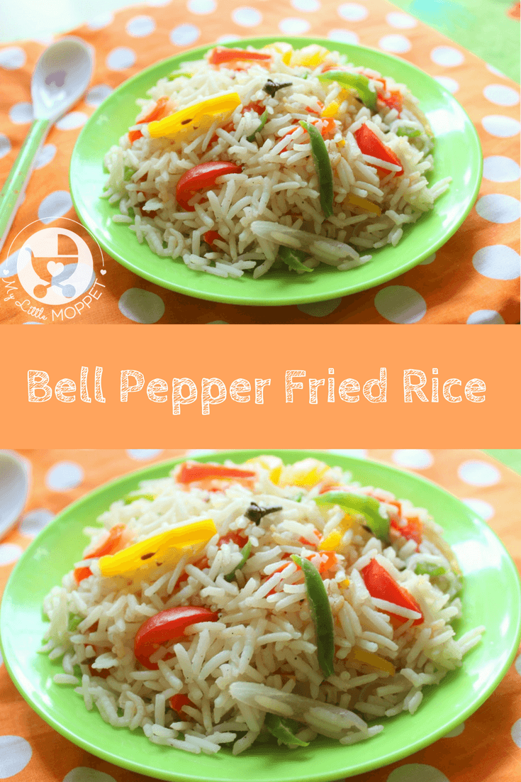 No need to order out anymore when you can make healthy, nutritious and yummy bell pepper fried rice right at home!