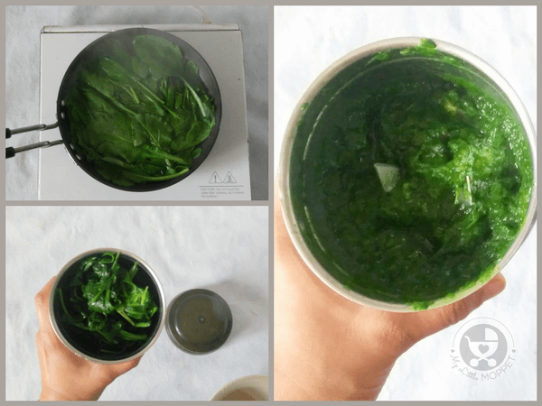 Make a spinach puree