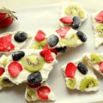 yogurt bark-made from fresh fruit and frozen yogurt