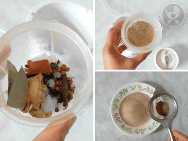 prepare the spices powder