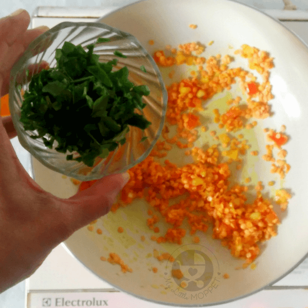 add fenugreek leaves to the vegetables