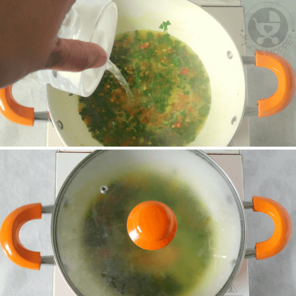add water to the vessel and cook for few minutes