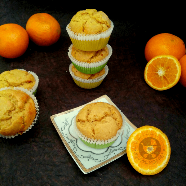 Muffins are super versatile and you can add any fruit to them. Think beyond bananas & try these whole   wheat orange muffins, filled with a lovely citrusy flavor.