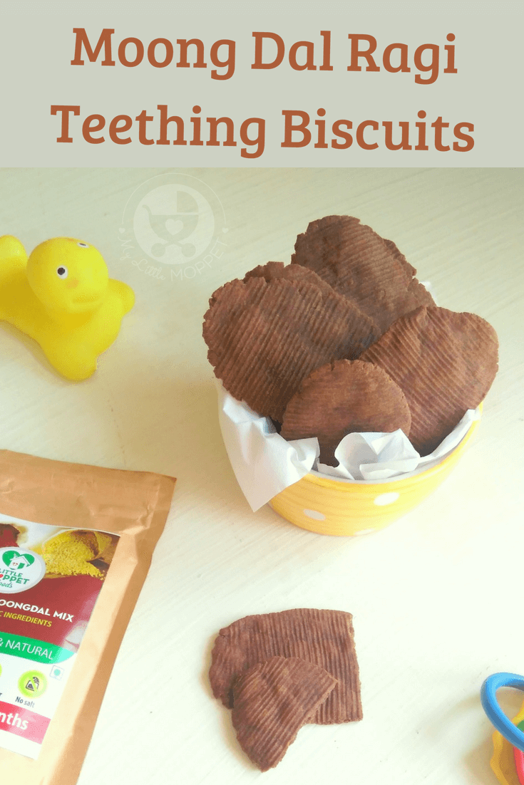 Got a teething baby at home? Give those little gums some relief with these tasty and healthy Moong Dal Ragi Teething Biscuits for Babies!