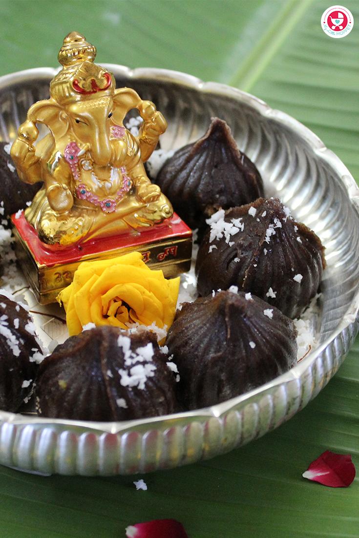 Ragi Modak [Kid-friendly Ragi Modak Recipe] is a homemade nutritious snack recipe made with iron rich ragi and dry fruits which are vitamin and protein rich