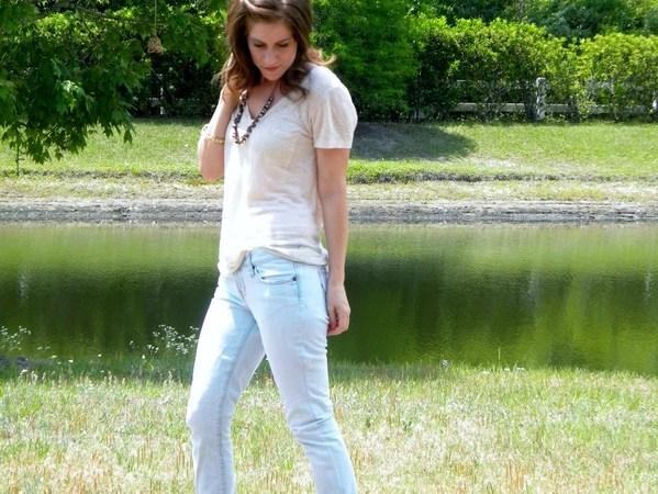 Blue-White Jean Refashion