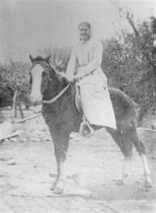 Grandma Keller on pony