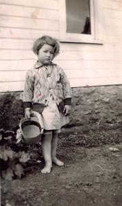 Wanda in early gardening days