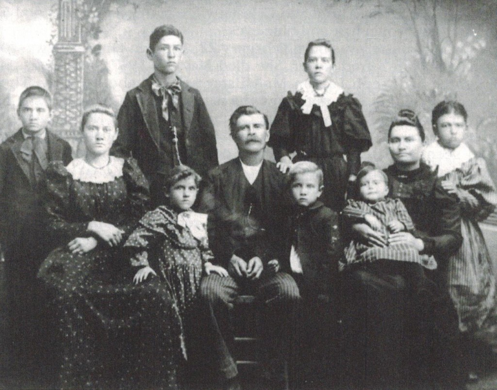 Alfred and Celestia Keller family