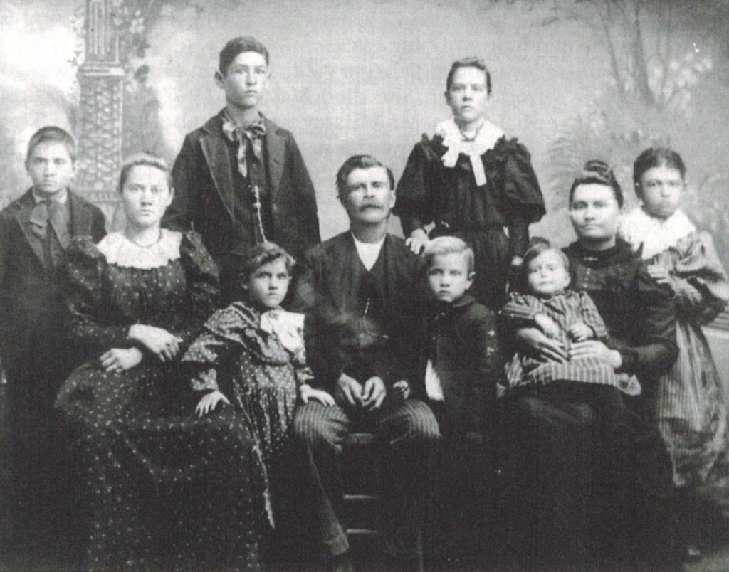 Alfred and Celestia Keller family
