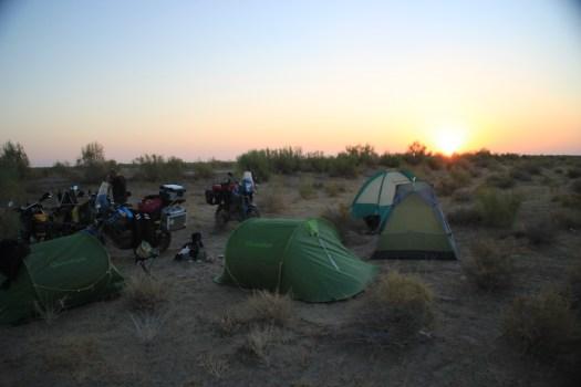 Morning at camp