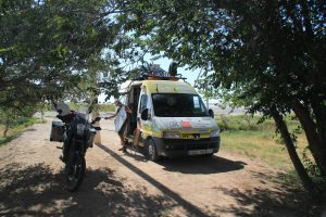 Ambulance going to Mongolia