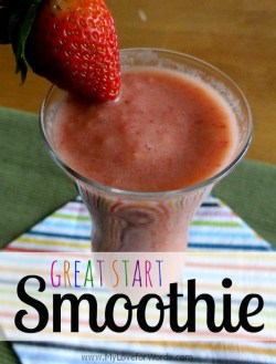 Great start smoothie from My Love for Words