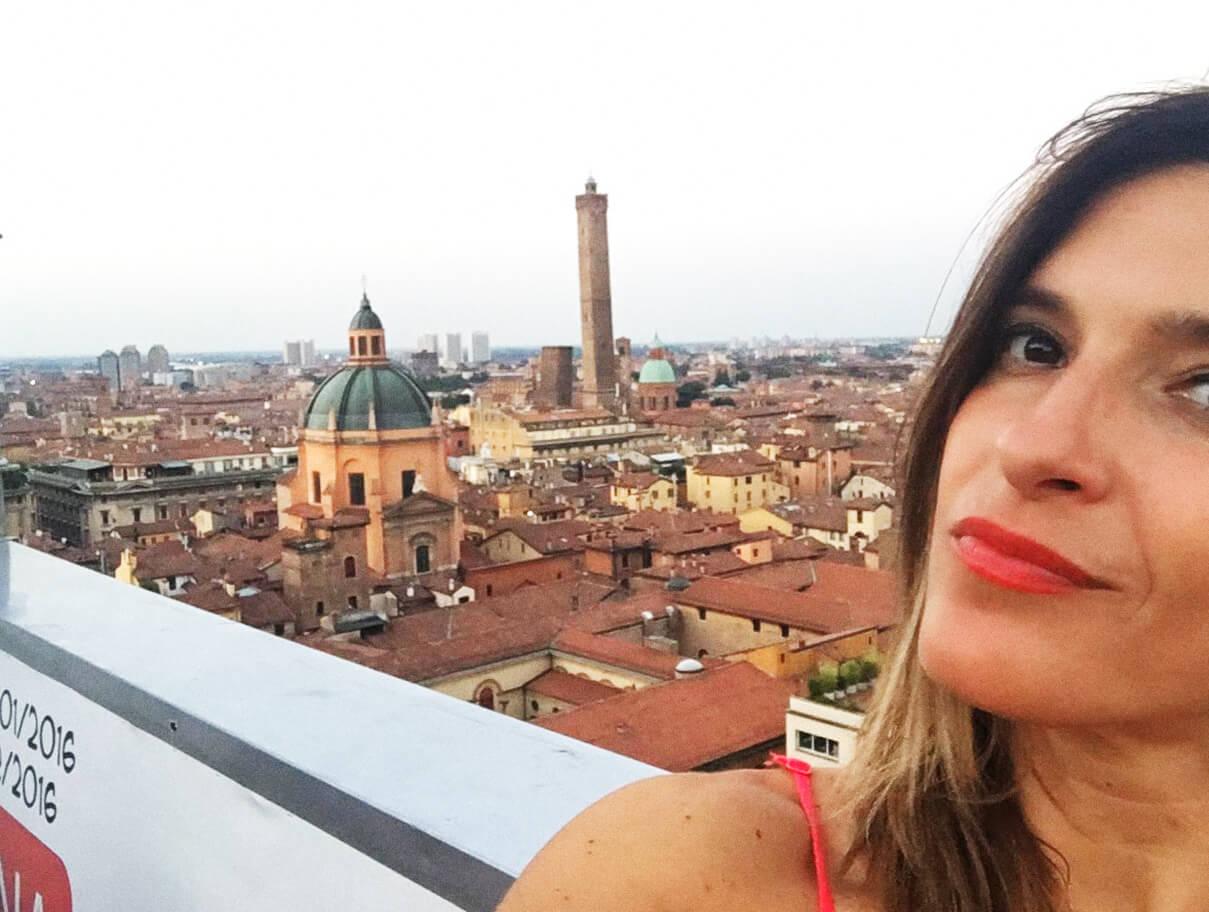 A special view over Bologna San Petronios terrace  My