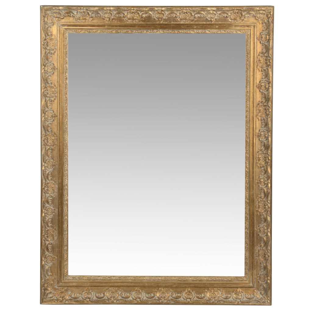 Miroir en paulownia doré 70x90 maison du monde