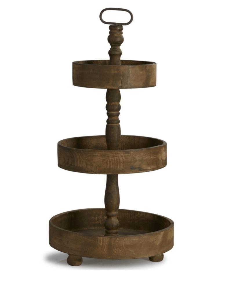 présentoir à gâteaux en bois 3 étages loberon beauvais