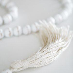 guirlande de perle blanc