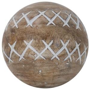 boule décorative en bois